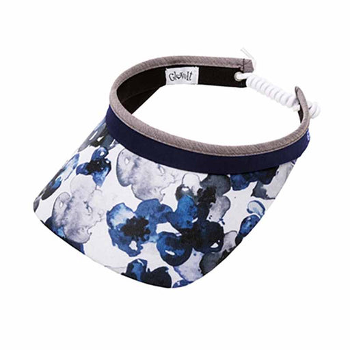 Indigo Poppy Golf Sun Visor with Coil Lace by GloveIt
