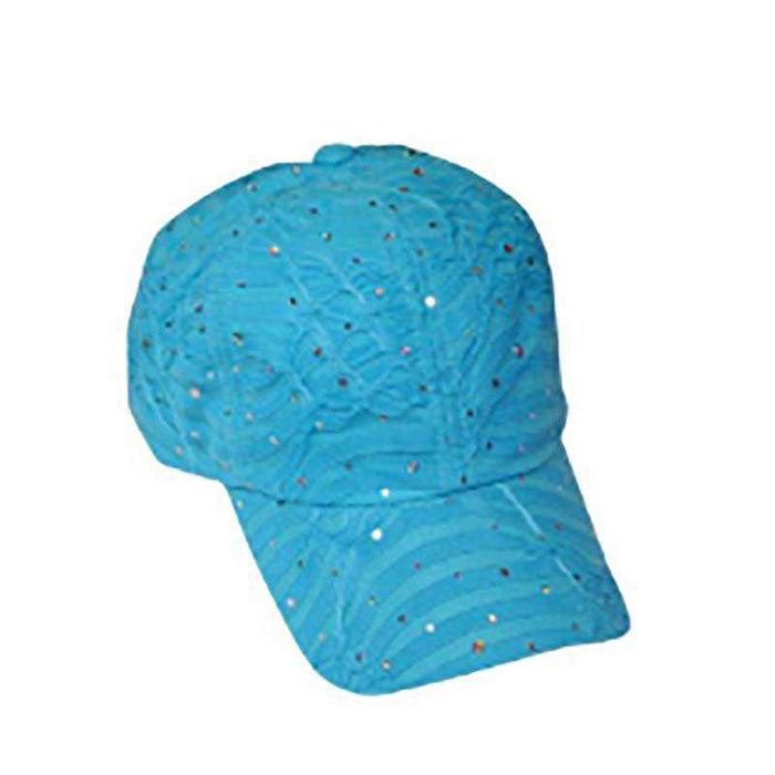 Glitter Striped Baseball Cap - Available in 12 Colors