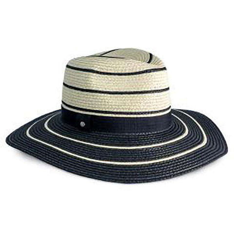 Black Striped Summer Safari Hat - Jones New York