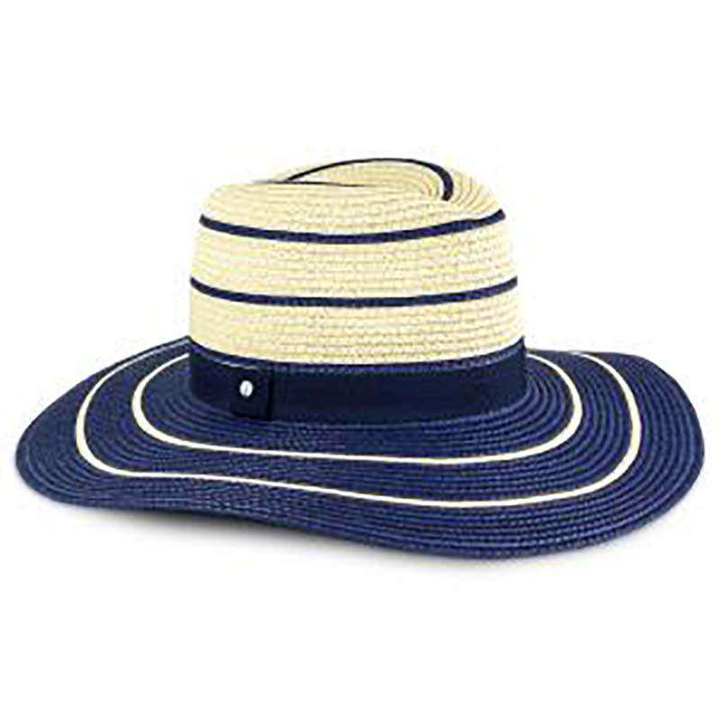 Navy Striped Summer Safari Hat - Jones New York