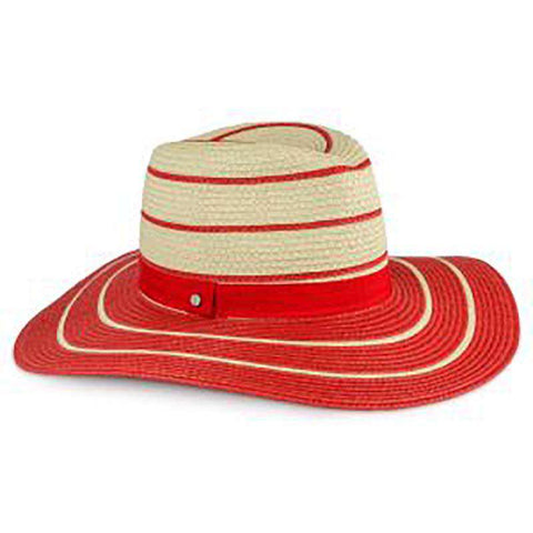Red Striped Summer Safari Hat - Jones New York