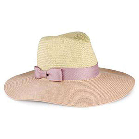 Pink Polka Dot Ribbon Bow Safari Hat - Jones New York