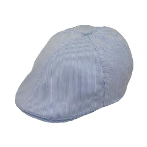 Boy's Pinstripe Cotton Duckbill Cap - Jeanne Simmons Hats