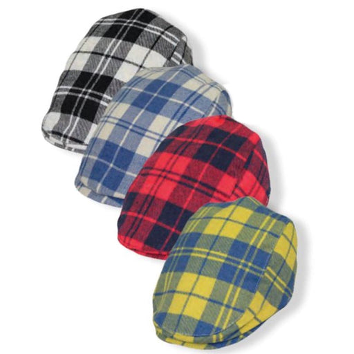 Boy's Plaid Flannel Flat Cap - Jeanne Simmons Hats