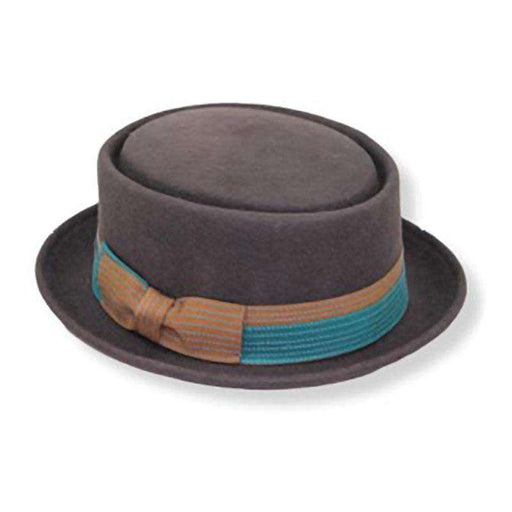 Gambler - Wool Felt Porkpie Hat by JSA for Men - Brown