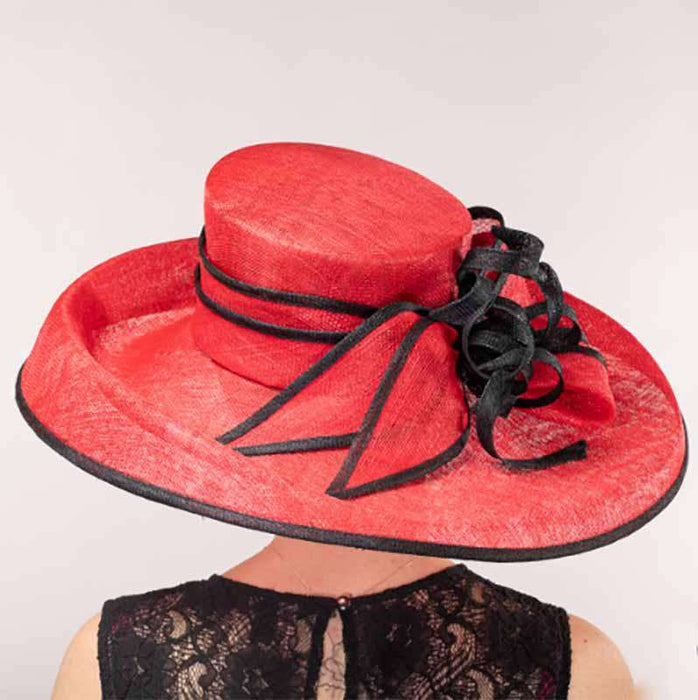 Twist Bow Knot Extra Large Brim Kentucky Derby Hat - KaKyCO