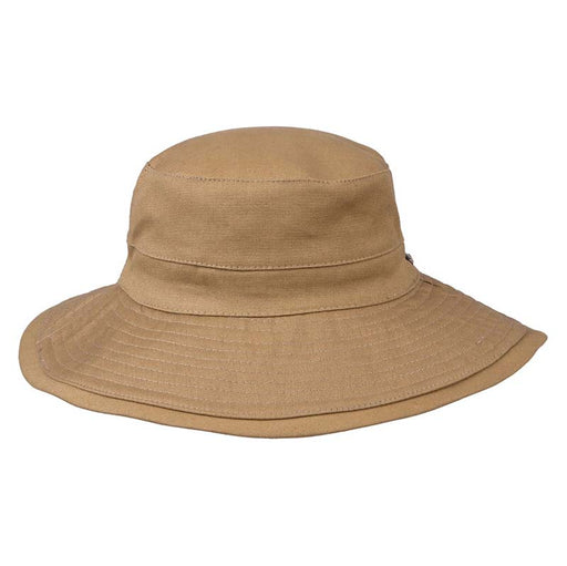Wide Brim Cotton Bucket Hat with Chin Strap - Karen Keith