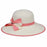 karen keith ribbon trimmed sun hat with ribbon and straw bow women pink coral upf50