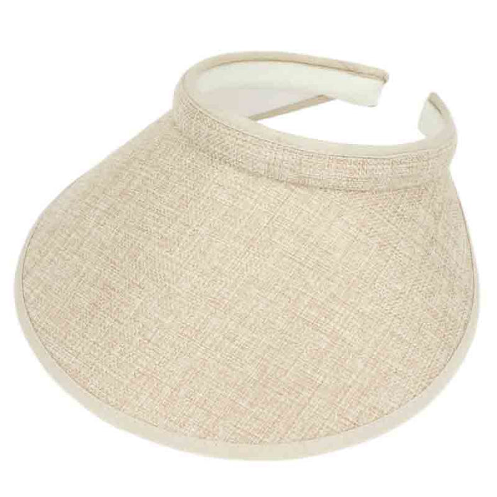 Large Clip On Woven Overlay Sun Visor Hat