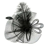 Pleated Mesh and Feather Fascinator - SetarTrading Hats