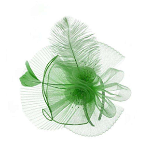 Pleated Mesh and Feather Fascinator