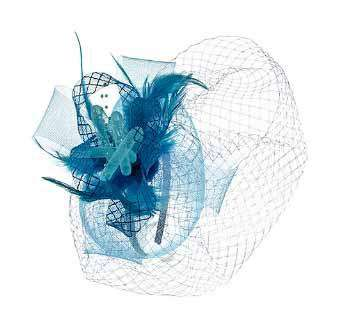 Small Checkered Mesh Fascinator