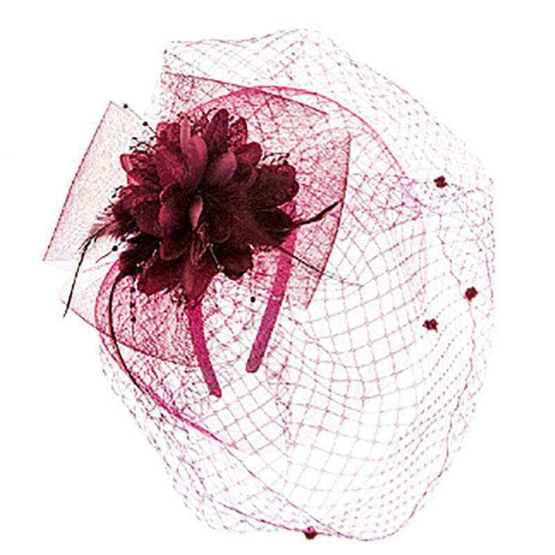 Lace Flower Fascinator with Veil - SetarTrading Hats