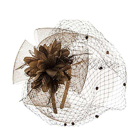 Lace Flower Fascinator with Veil