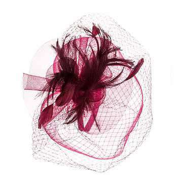Large Double Veil Fascinator