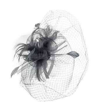 Large Double Veil Fascinator - SetarTrading Hats