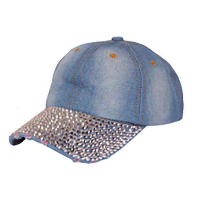 Studded Bill Denim Baseball Cap - SetarTrading Hats