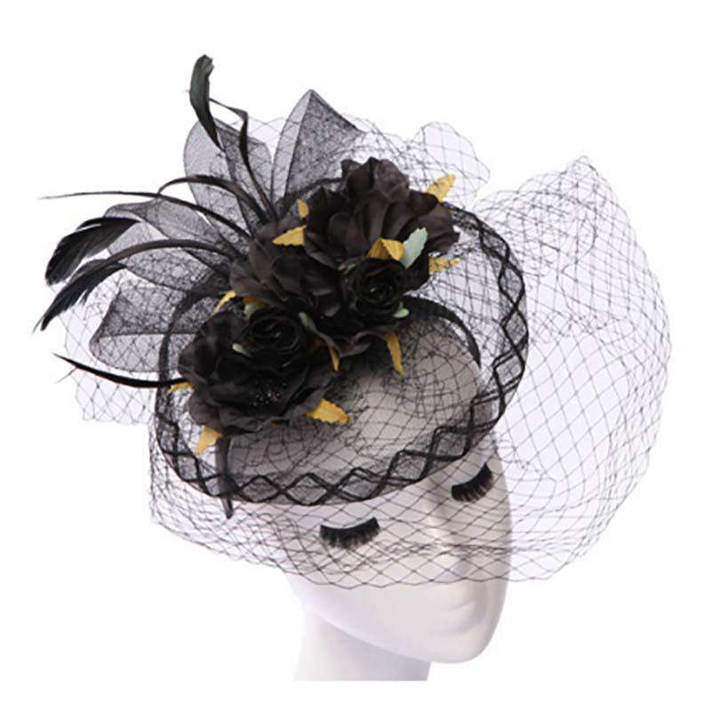 Silk Flower Bouquet Fascinator - SetarTrading Hats