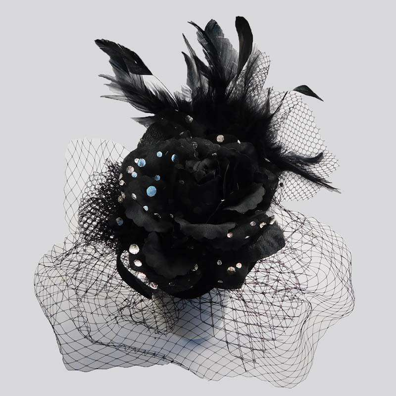 Polka Dot Rose Fascinator - SetarTrading Hats