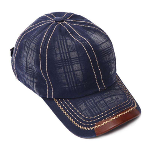 Leatherette Peak Baseball Cap