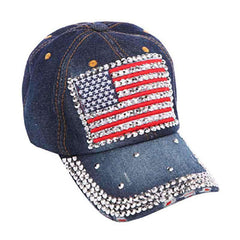 Studded Bill USA Baseball Cap