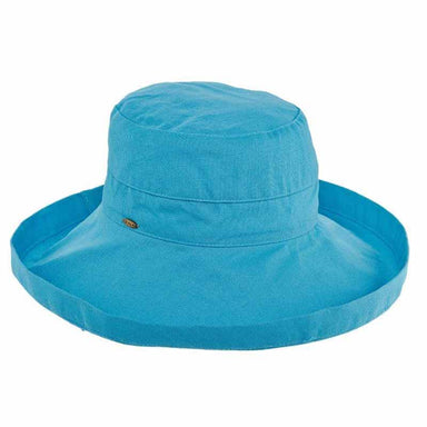 lc399 turquoise cotton up turned brim golf hat