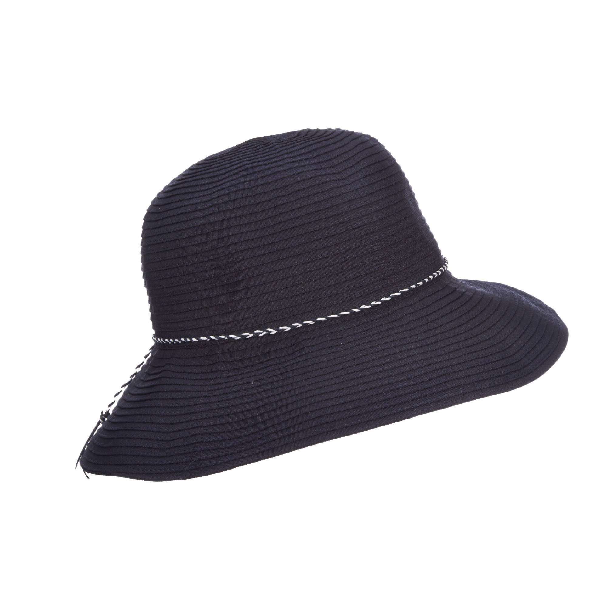 Scala Ribbon Bucket Hat - Shapeable Brim 95526fa137e