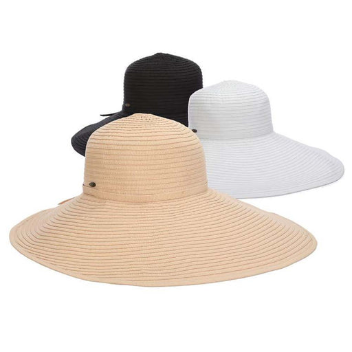 Deluxe Ribbon Dimensional Brim Floppy Hat - Scala Hats