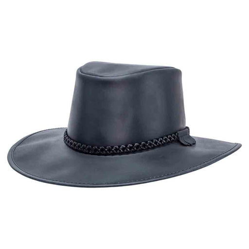 Head'n Home Crusher Outback Leather Hat up to XXL- Black