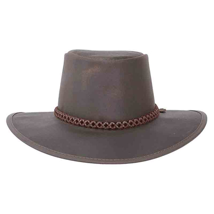 Head'n Home Crusher Outback Leather Hat up to XXL- Brown