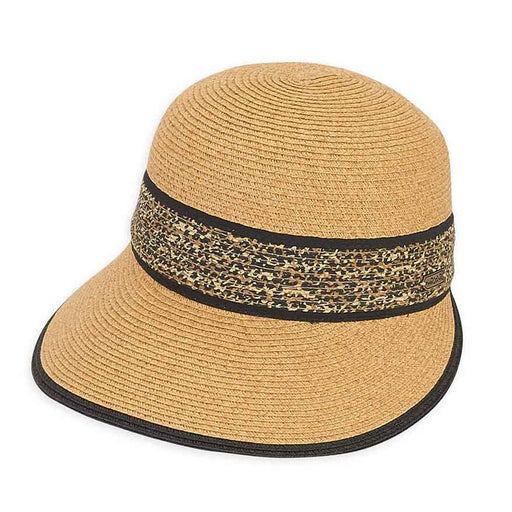 leopard print band brim cap hat by sun n sand headwear for women SetarTrading Hats