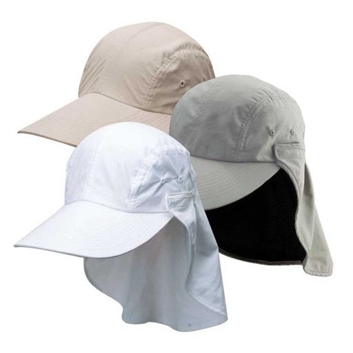 Microfiber Fishing Cap with Long Bill and Sun Shield - DPC Outdoor Hats