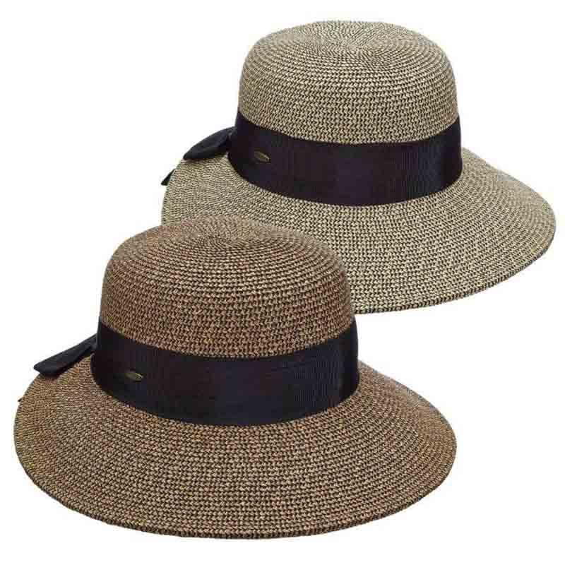 Dimensional brim sun hat for women scala collezione hats