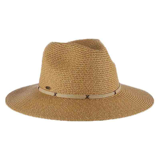 Cyprus Braid Safari Hat with Faux Suede Band - Scala Collezione