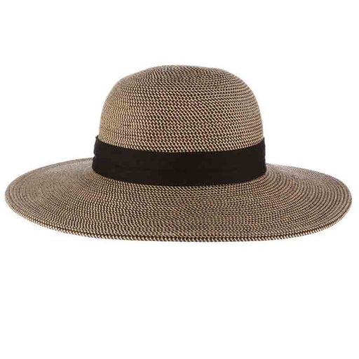 Rouen Classic Wide Brim Sun Hat with Chin Cord- Scala Collezione