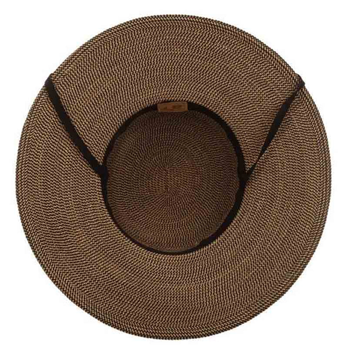 Rouen Classic Wide Brim Sun Hat with Chin Cord - Scala Collezione