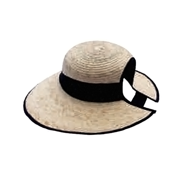Lucy Palm Leaf Sun Hat with Ponytail Hole - Tula Hats