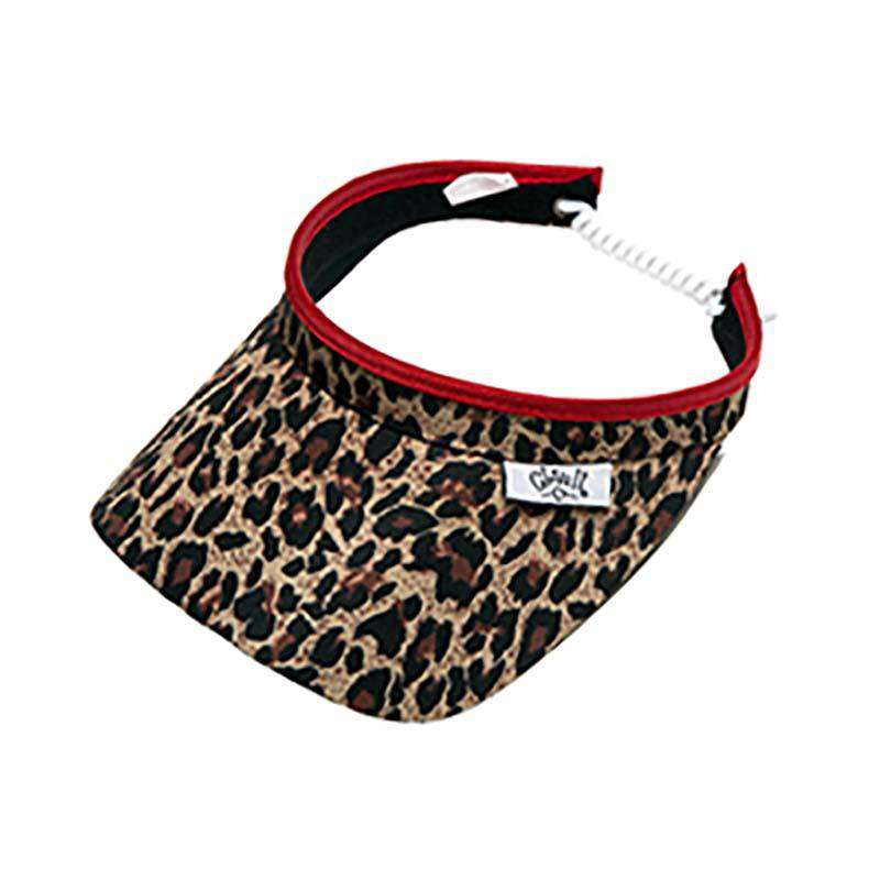 Leopard Golf Sun Visor with Coil Lace by GloveIt