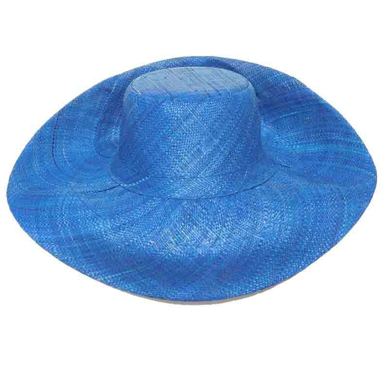 Madagascar Raffia Large Brim Solid Color Beach Hats