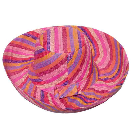 Madagascar Raffia Large Brim Multicolor Beach Hat