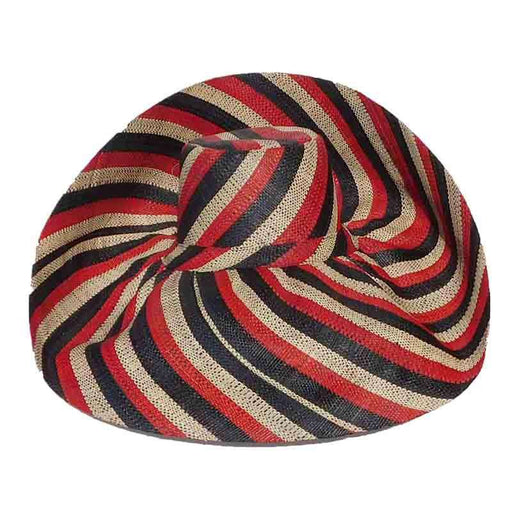 Madagascar Raffia Extra Large Brim Stripes Beach Hat