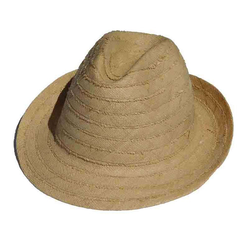 Madagascar Frayed Braid Natural Raffia Hats