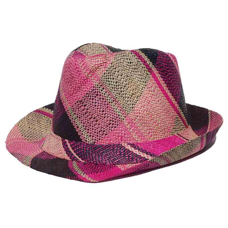 Madagascar Colorful Raffia Fedora Hats