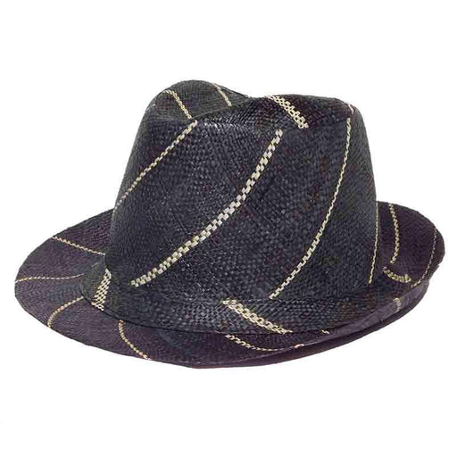 Madagascar Raffia Pin Stripe Fedora Hats