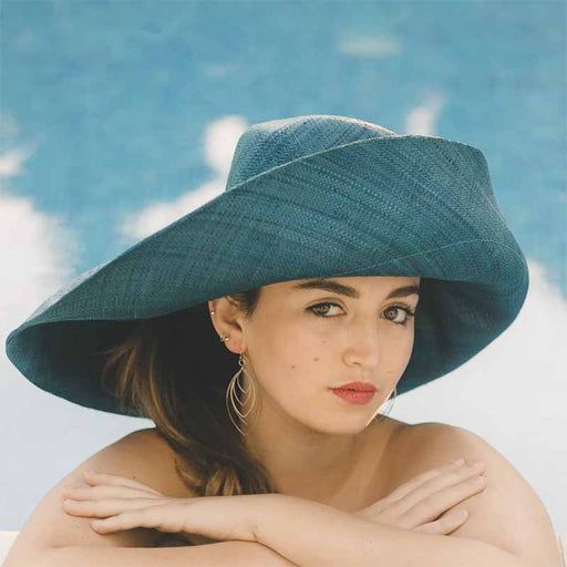 Madagascar Raffia Extra Large Brim Solid Color Beach Hat