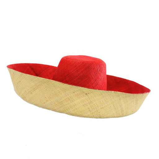 Madagascar Raffia Extra Wide Brim Two Tone Beach Hat