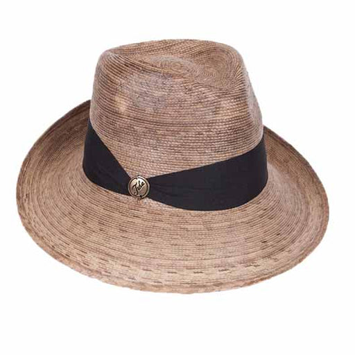 margo palm leaf up turned brim fedora hat for women upf50 tula hats