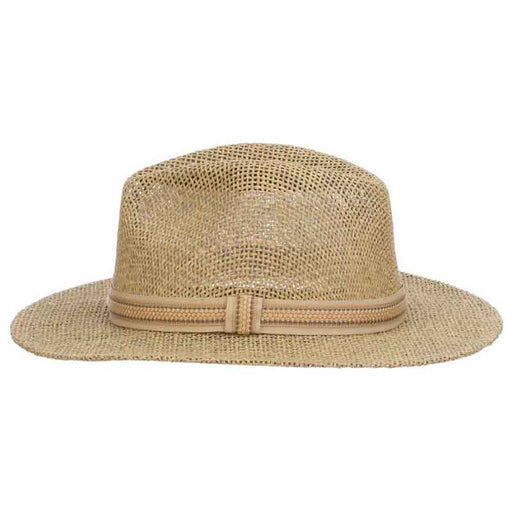Matte Toyo Safari Hat with Ribbon Band Overlay - Scala