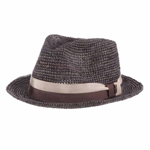 Matteo Crochet Raffia Fedora - Brooklyn Hat Co