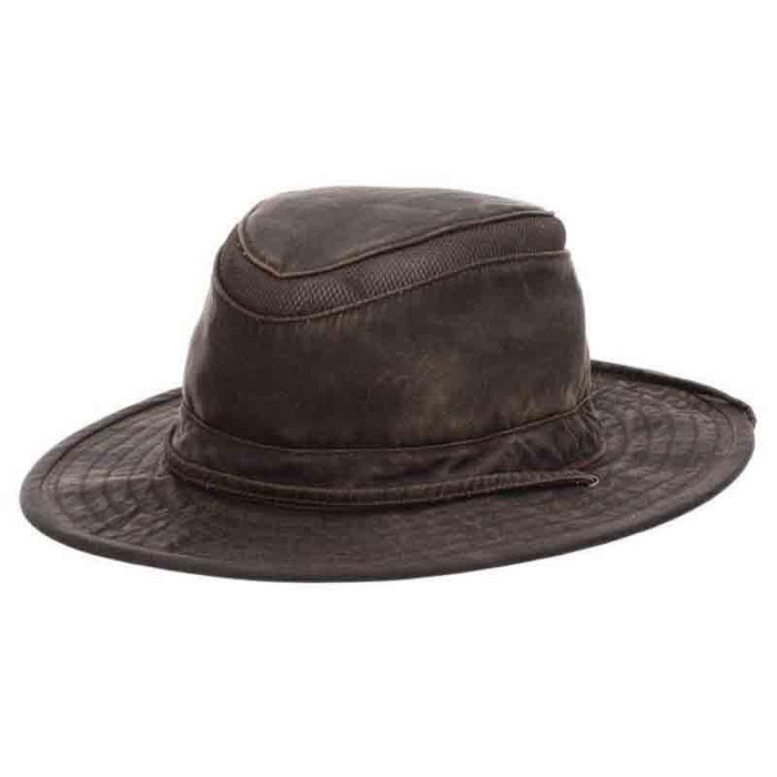 mc376 weathered cotton safari bucket ventilated crown dpc global hat